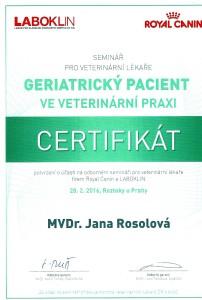 certifikat Jana